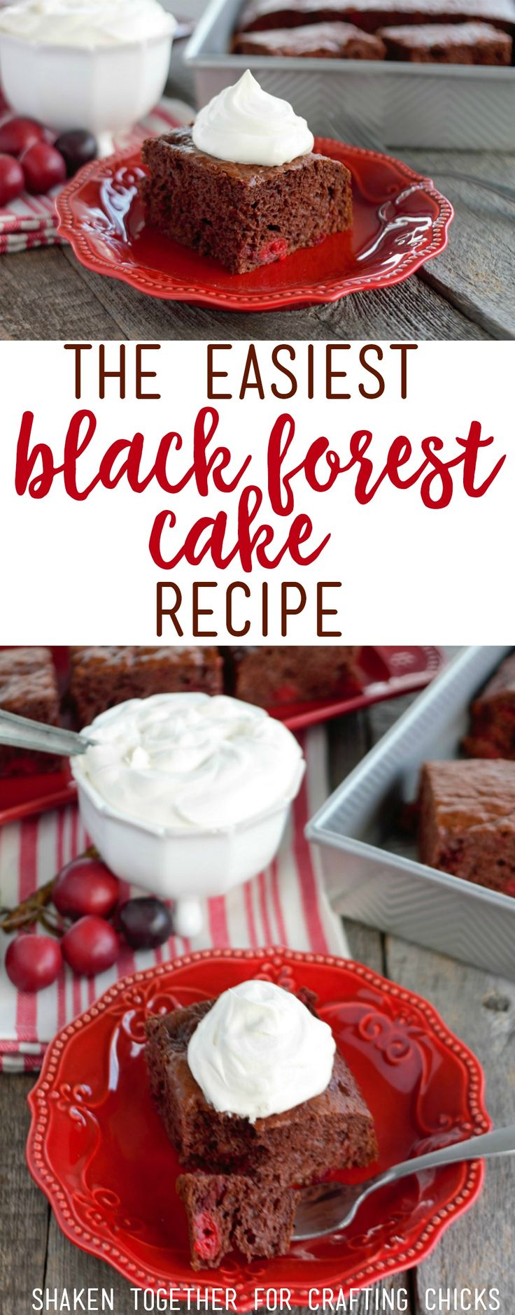 Need an unbelievably easy dessert? You'll love this Black Forest Cake Recipe...