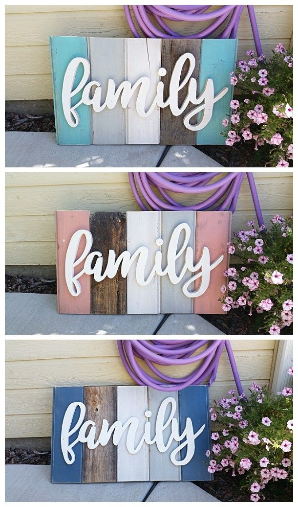 "New ""Old"" Distressed Barn Wood Word Art Indoor/Outdoor Home Decor Sign – D..."