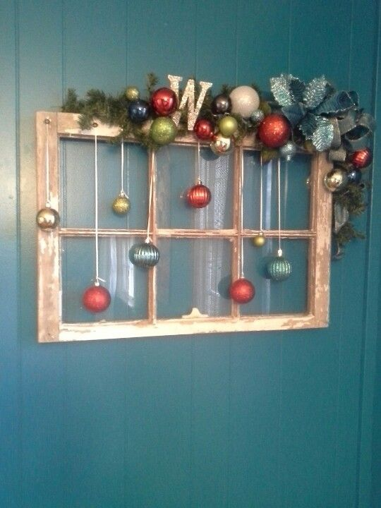 Diy Crafts Old Window Christmas Decoration Diyall Net Home Of