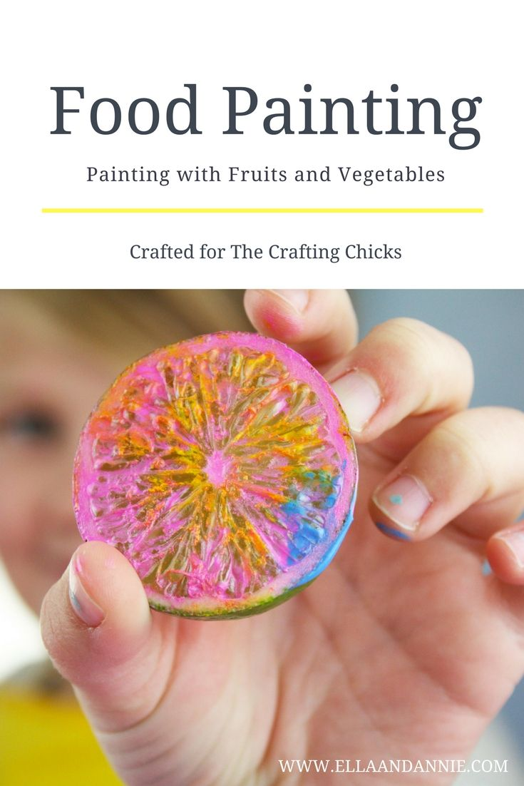 Open up your fridge for art time today! Painting with Fruit and Vegetables is a ...