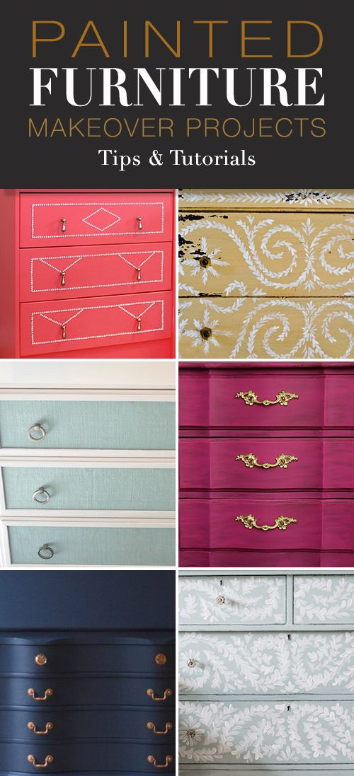 Painted Furniture Makeover Projects! • Explore this post for step by step tuto...