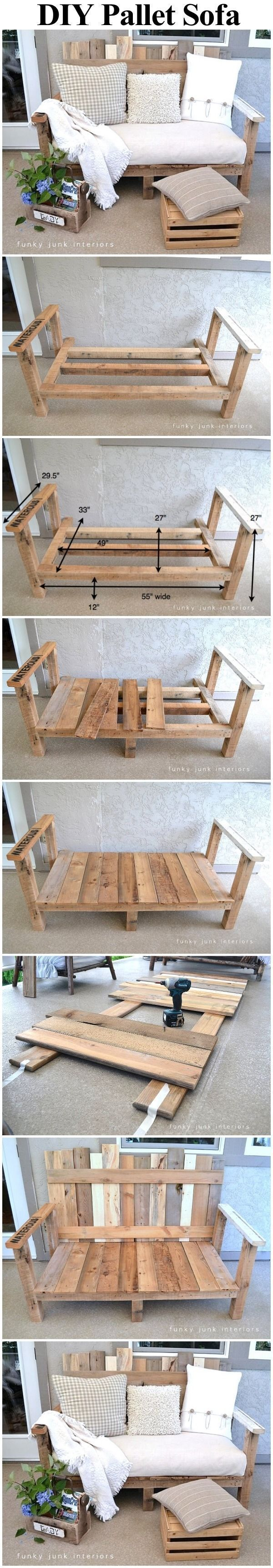Pallet Wood Outdoor Sofa Pictures, Photos, and Images for Facebook, Tumblr, Pint...