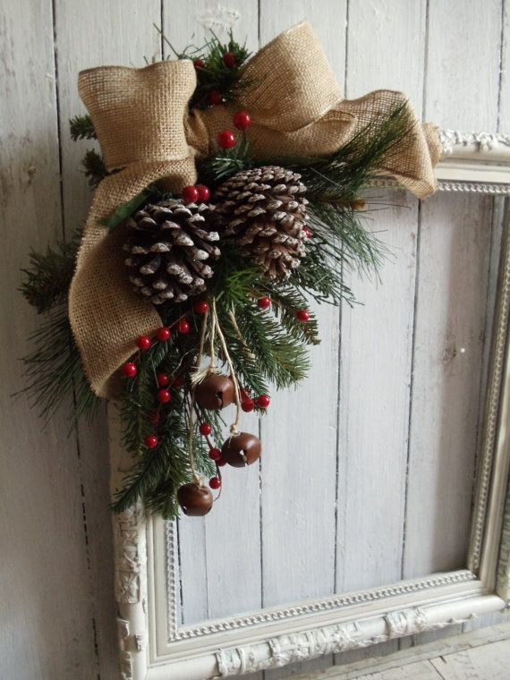Diy Crafts Picture Frame Christmas Wreath Diyall Net Home Of