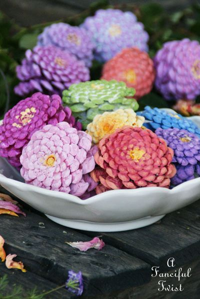 Pinecone flowers 1