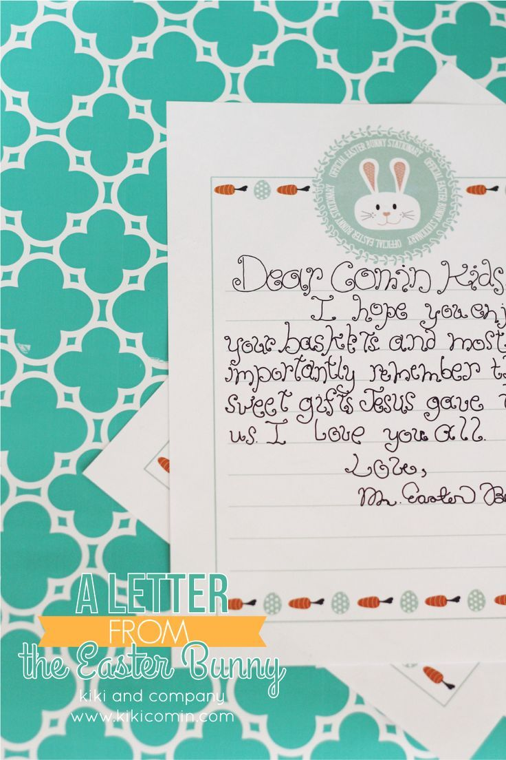 photo about Letter From Easter Bunny Printable known as Do it yourself Crafts : Printable Letter in opposition to the Easter Bunny. Adorable