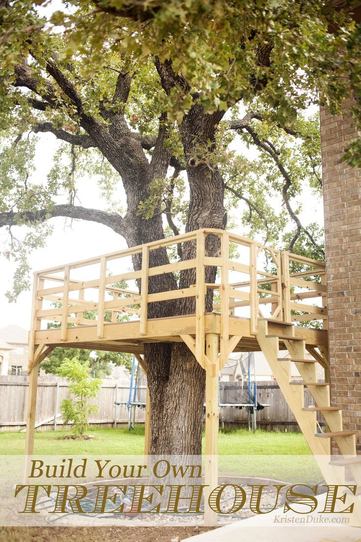 Someday...... Build Your Own Treehouse, how we built it for backyard play for ki...