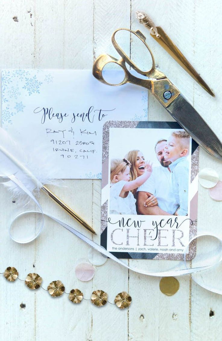 Spread New Year cheer with a Tiny Prints holiday card. [ad]