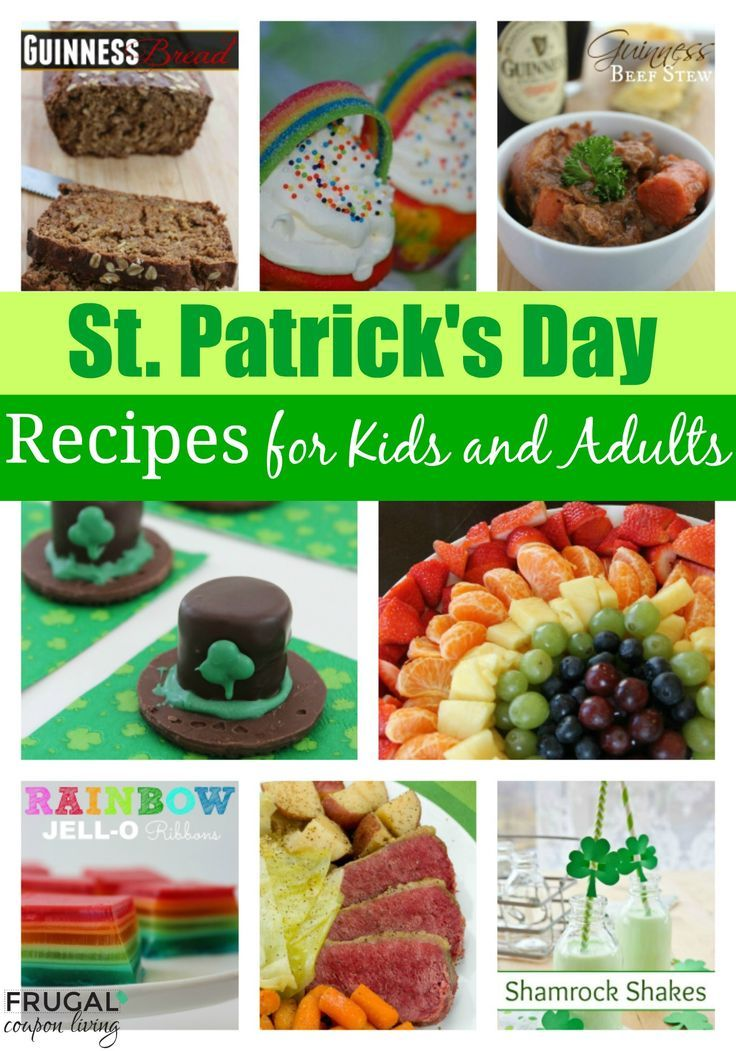 St Patricks Day Food. Round-Up of St Patrick's Day Food Ideas for Kids and Adult...