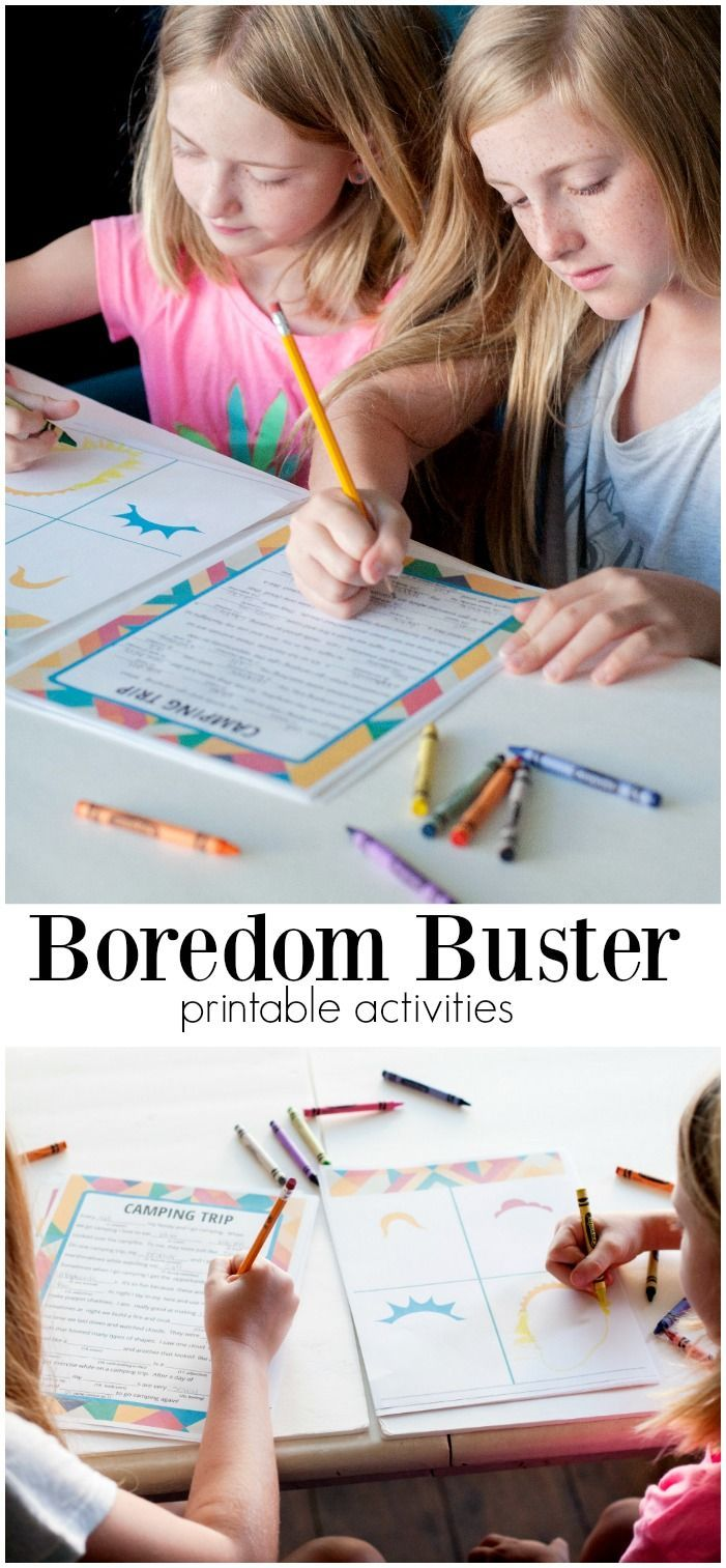 Summer Boredom Buster Printable Kits. Beat the heat and the boredom with these f...