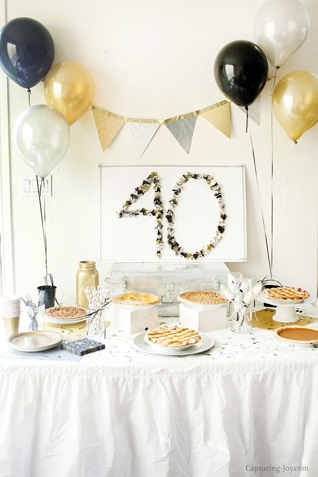 DIY Crafts Surprise 40th Birthday Party 40th Birthday Party Ideas