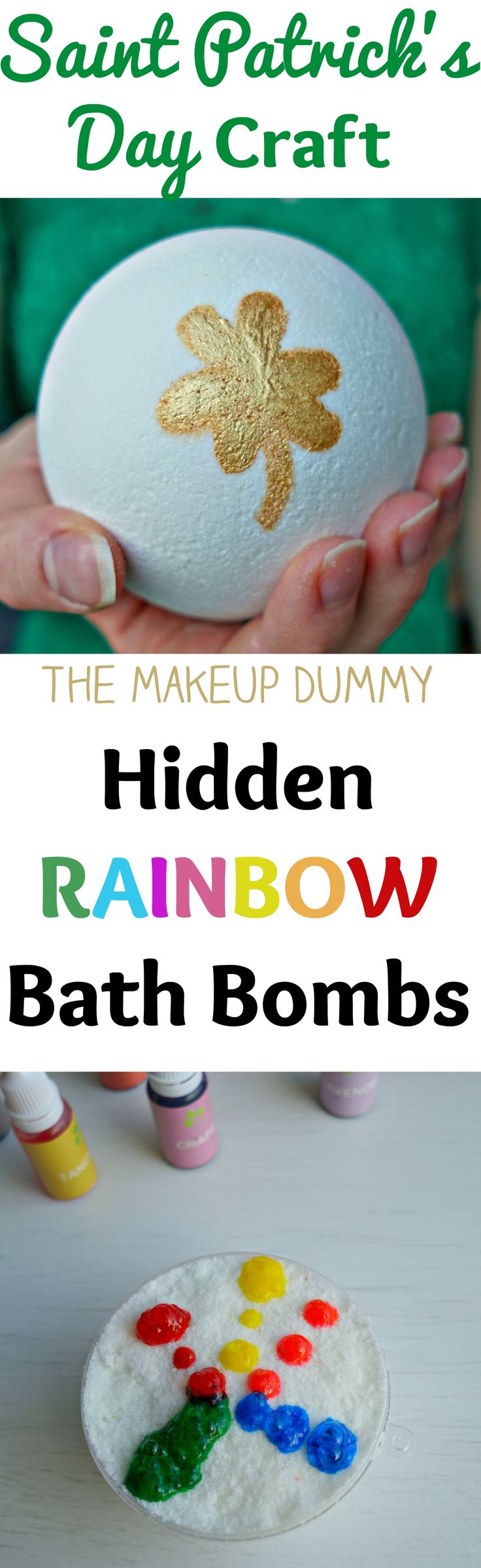 This is so cute and very easy to make! How to make a DIY Hidden Rainbow Bath Bom...