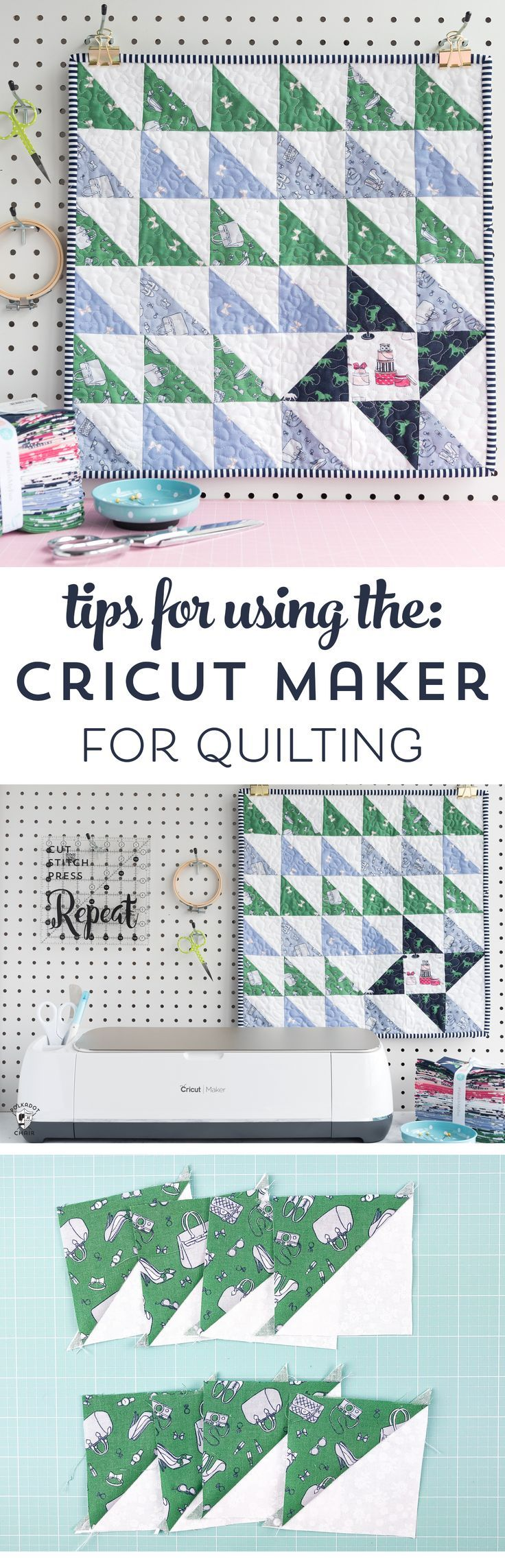 Tips and tricks for using the cricut maker for quilting and adapting the maker f...