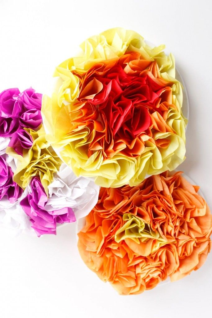 Tissue Paper Flower Kids Craft