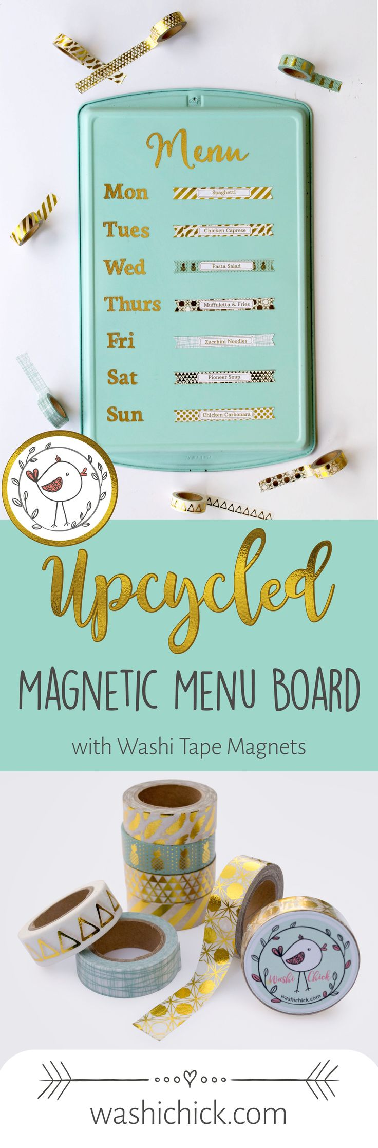 Diy Crafts Upcycled Diy Magnetic Menu Board With Washi Tape Magnets Diyall Net Home Of Diy Craft Ideas Inspiration Diy Projects Craft Ideas How To S For Home