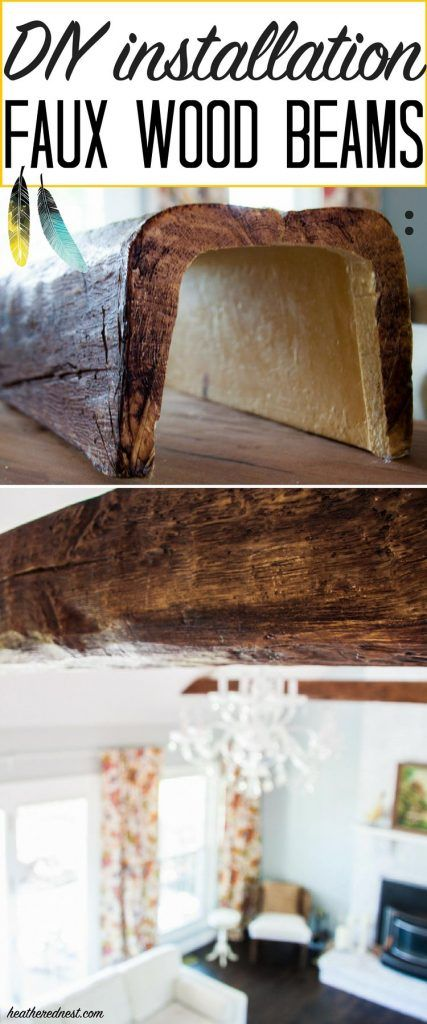 WOW! They look just like real WOOD BEAMS! Faux beams are super affordable! Learn...