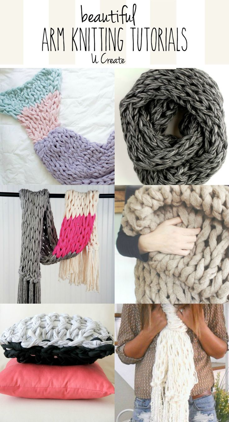 Who else is in love with the chunky knitting look that you can only get from arm...