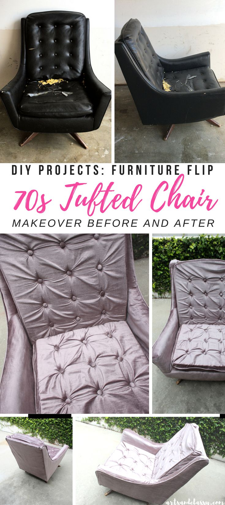 1970's Vintage Leather Rocker Gets a Feminine Modern Makeover. I am loving this ...