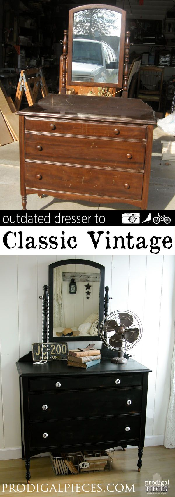 An outdated dresser just needs a little TLC and new look to get it back to the c...