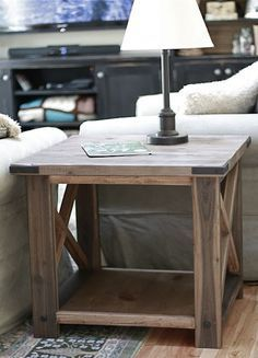DIY Furniture Ana White Build A Rustic X End Table Free And - How to build an end table