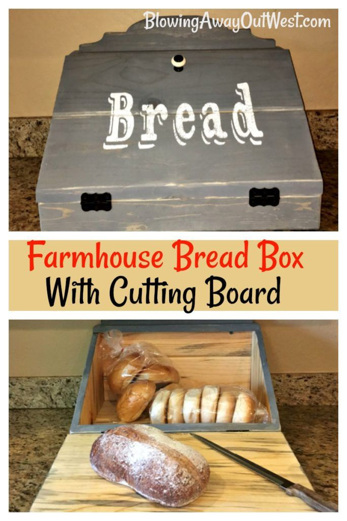 Check out our Farmhouse inspired bread box.  It has a built in cutting board!