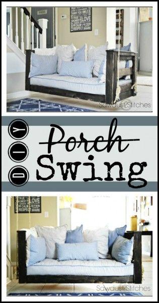 Crib Mattress Porch Swing - Sawdust 2 Stitches