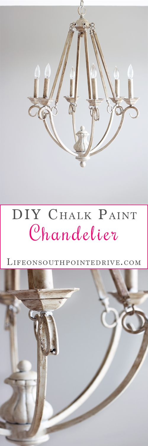 DIY Chalk Paint Chandelier Makeover, chalk paint diy projects inspiration, chalk...