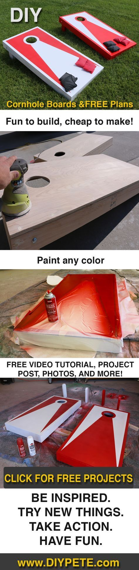 DIY Cornhole Boards! This is a super simple project that will lead to years of f...