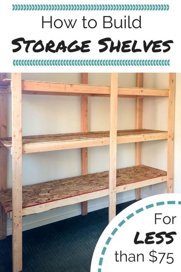 Get your garage, basement or shed organized with this inexpensive storage shelvi...