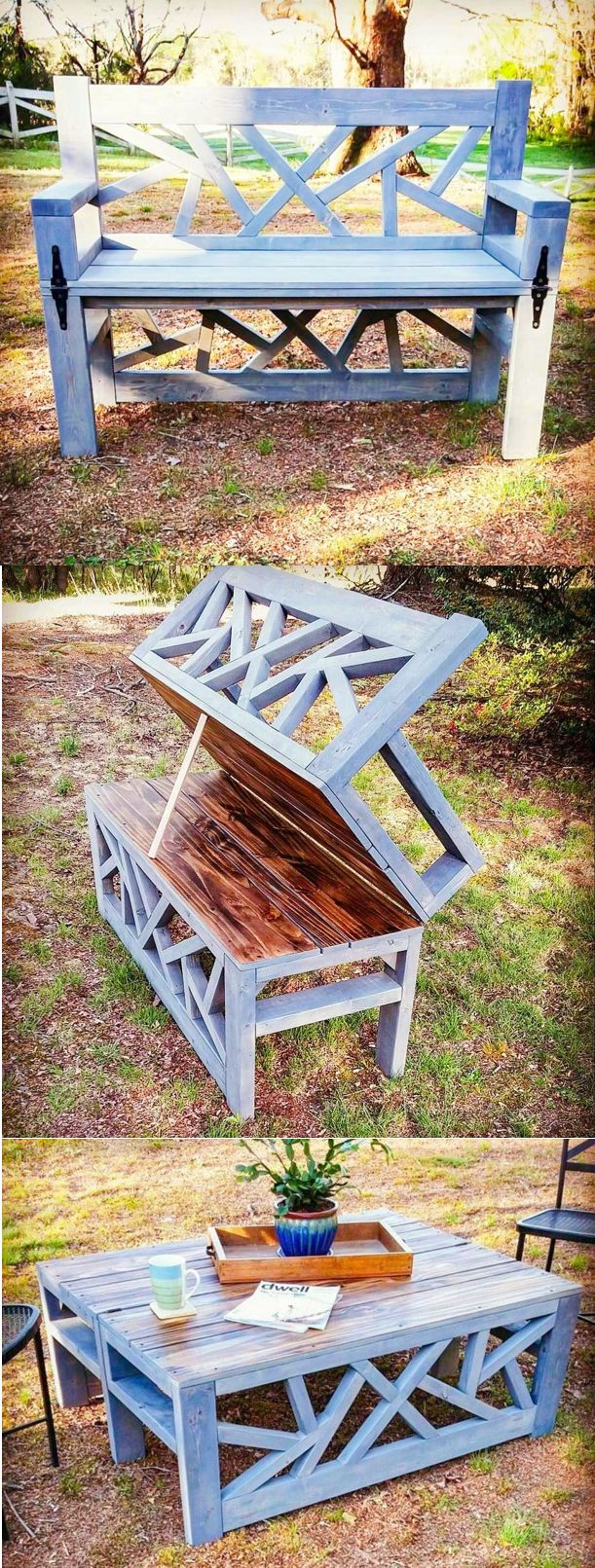 HOW TO build an outdoor convertible coffee table / bench