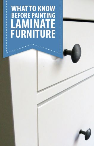 How to Paint Laminate Furniture- Learn tips to make your next DIY project long l...