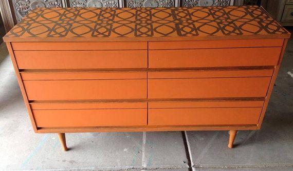Mid Century Modern Dresser with by 3HeartsStyleStudio in Denver, CO. Find more p...