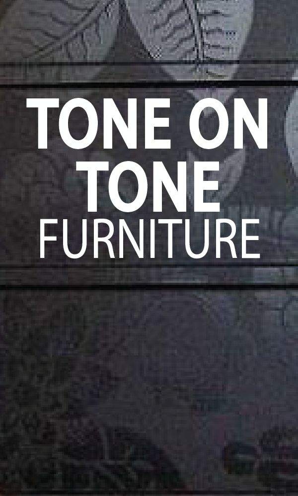 One of my all-time favorite furniture details is tone on tone. This look is so e...