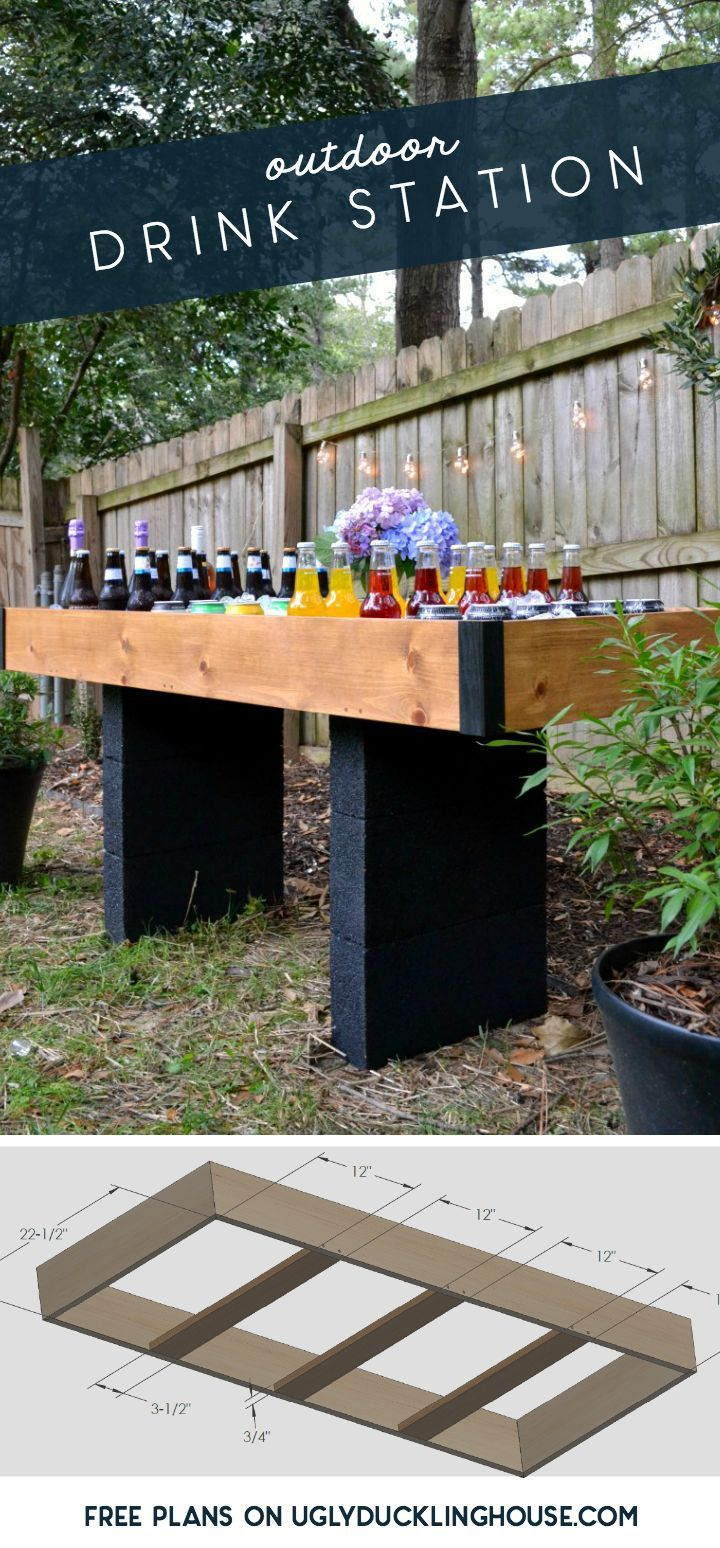 Outdoor drink stations aren't just for weddings anymore! Get free plans for this...