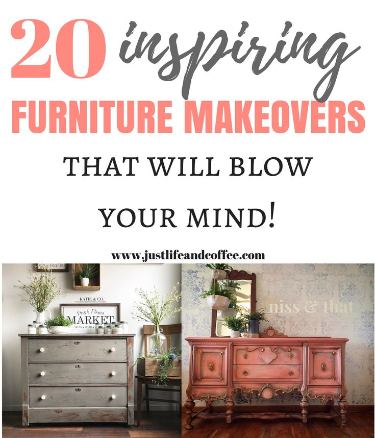 These 20 furniture makeovers are absolutely stunning! If you want inspiration an...