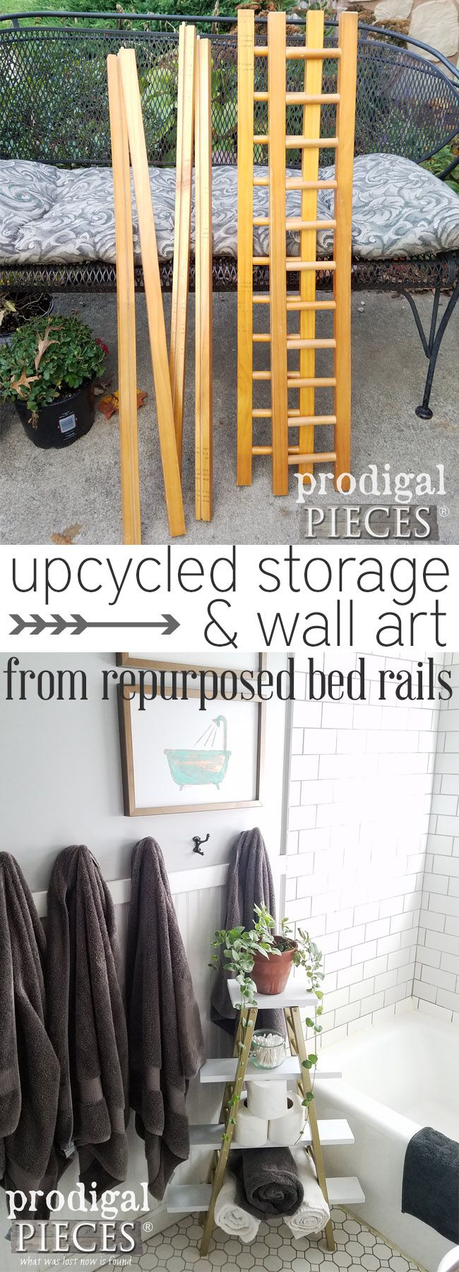 This is so cool! upcycled storage and DIY wall art all created from some cast-of...