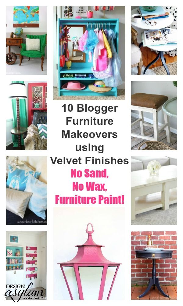 What happens when awesome bloggers get a hold of Velvet Finishes furniture paint...
