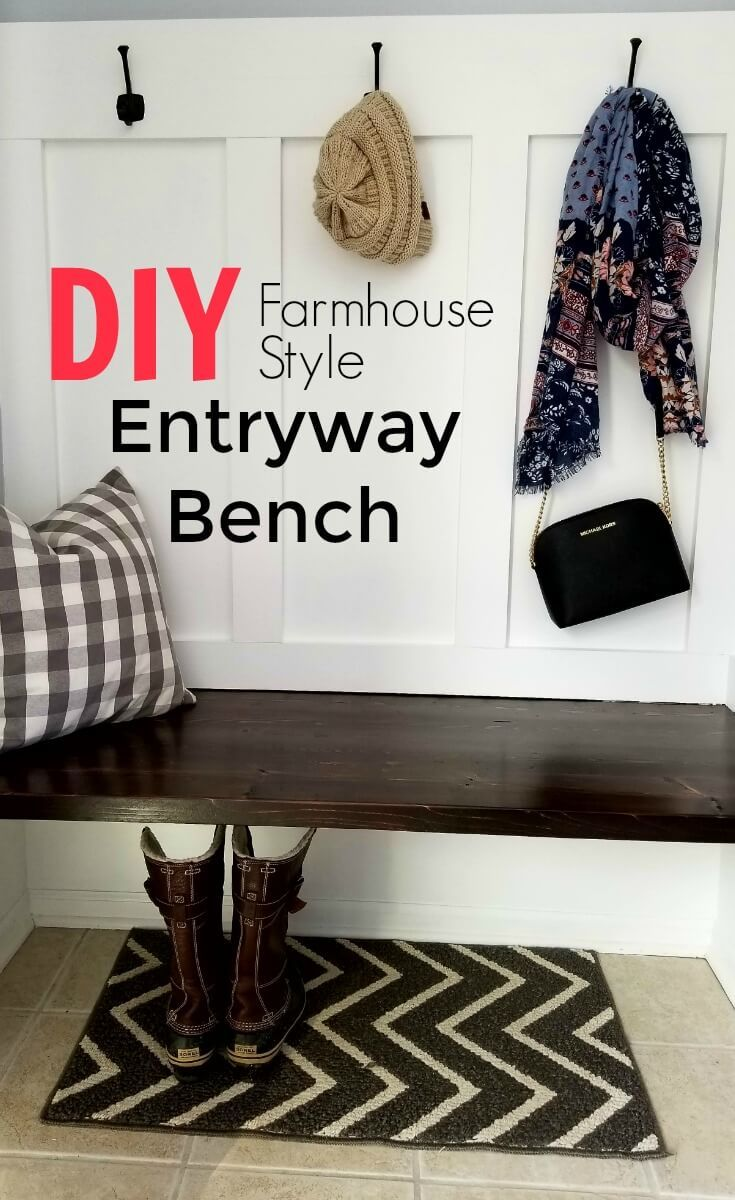 You are going to love this money saving DIY Farmhouse Style Entryway Bench! This...