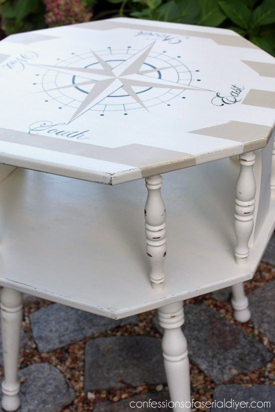 nautical painted coffee table - Check out these 15 Nautical Furniture Flips - DI...