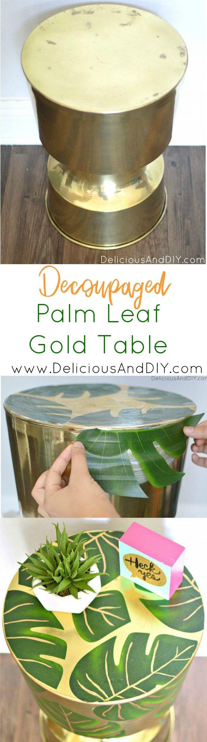 Diy Furniture Palm Leaf Table Palm Leaf Furniture Modge Podge