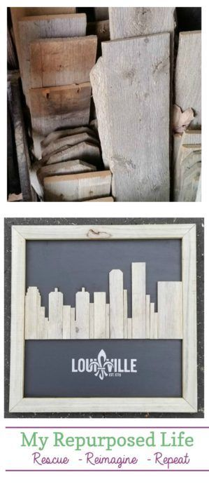 Reclaimed Wood Skyline Artwork | Louisville Kentucky - My Repurposed Life®️...