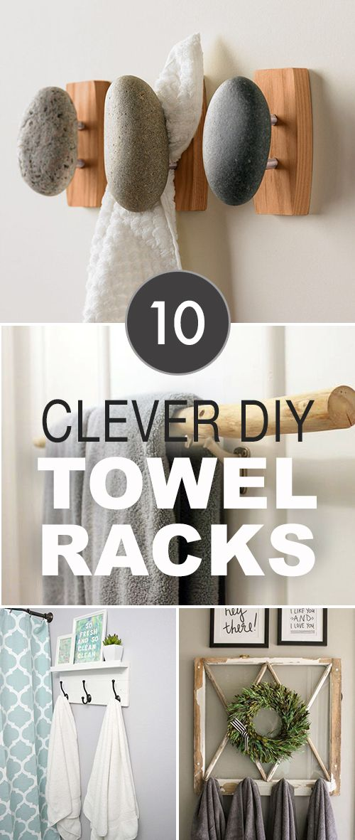 10 Clever DIY Towel Racks! • Some great tutorials here in this post. Lots of c...