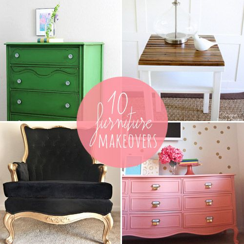 10 DIY :: Furniture makeovers so awesome & easy you'll be skipping to the hard...