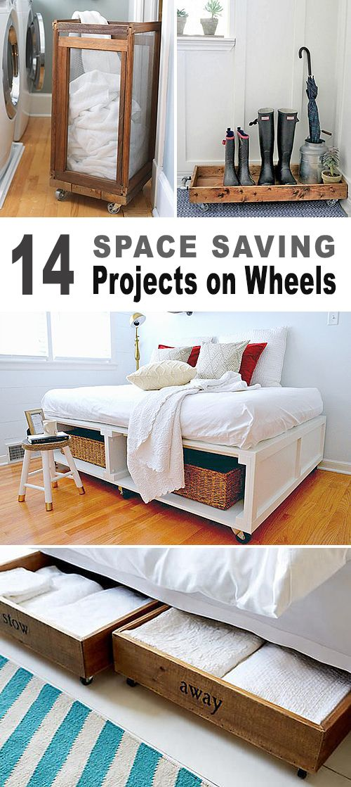 14 Space Saving Projects on Wheels! • Lots of DIY projects with tutorials • ...