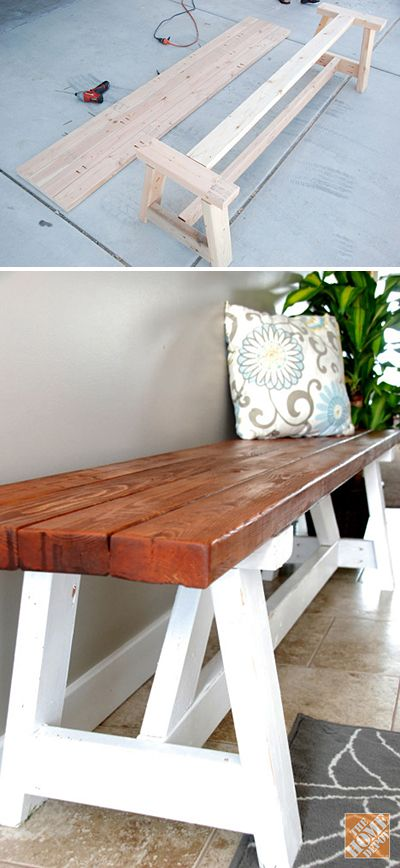 15 DIY Entryway Bench Projects • Tons of Ideas and Tutorials! Including, from ...