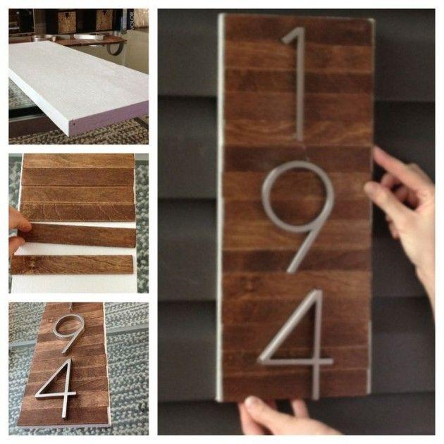 Diy Crafts 25 Creative Diy House Numbers Ideas Diyall Net Home