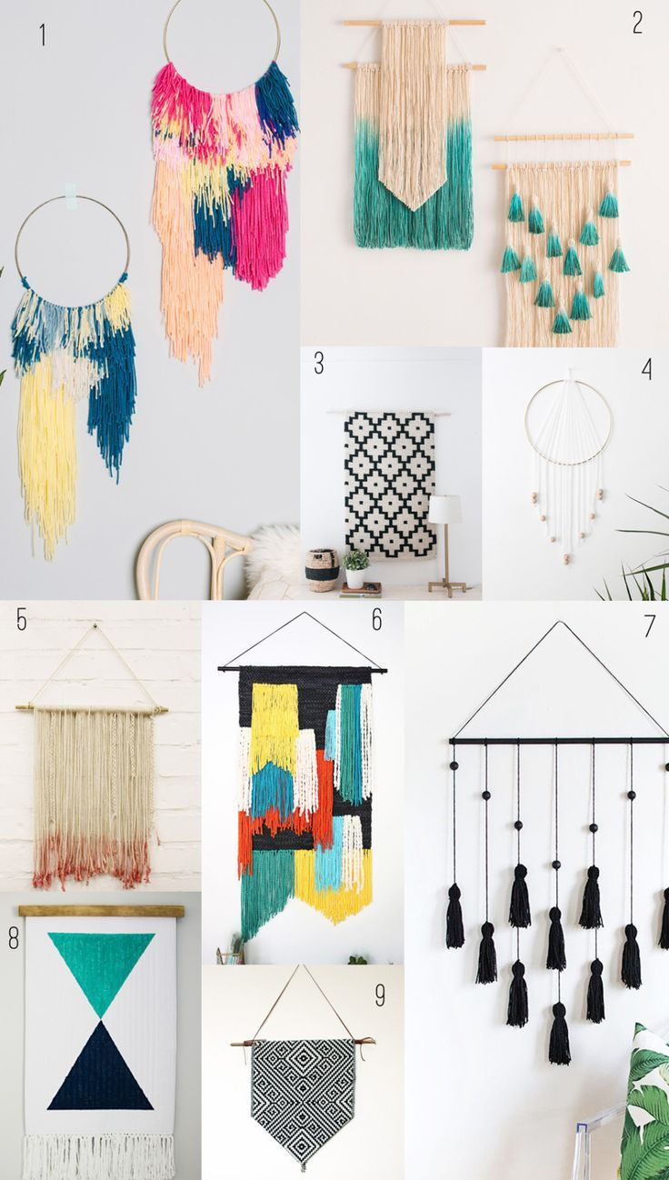 9 Awesome DIY wall hangings!