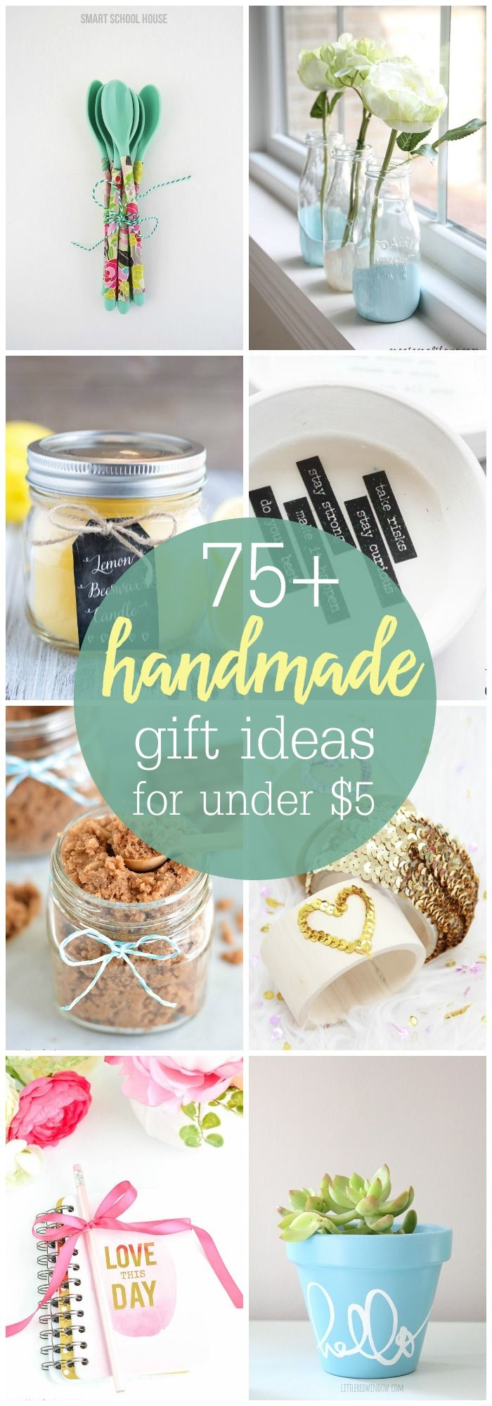 A wonderful collection of 75+ Handmade Gift Ideas that can be made for under $5....