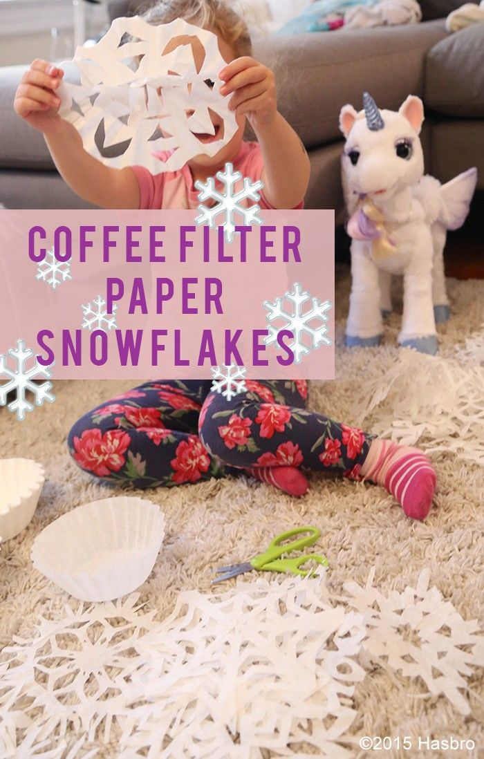 Add a little whimsy to your holiday decor with these coffee filter snowflakes! T...