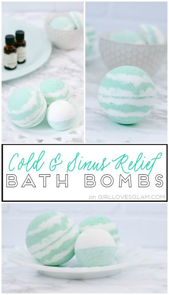 Cold and Sinus Relief Bath Bombs on www.girllovesglam...