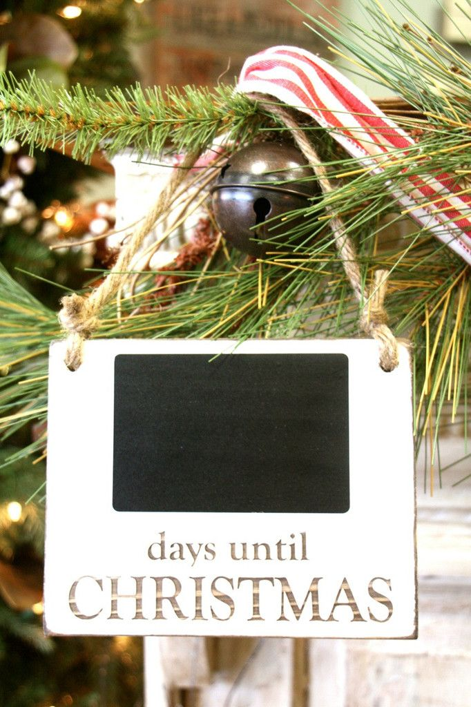 Count down the days until Santa comes to town! Chalkboard makes it easy to chang...